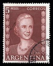 Argentina Vintage Postage Stamp Eva Peron (Evita)