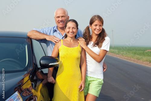 Deurstickers Golf Family near black car