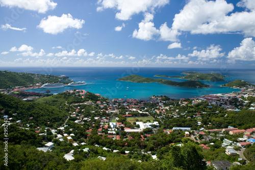 Fotografie, Obraz  Aerial view of the island of St Thomas, USVI.