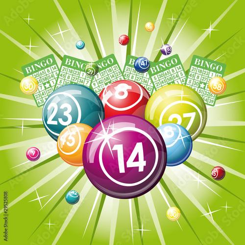 bingo or lottery balls Canvas Print