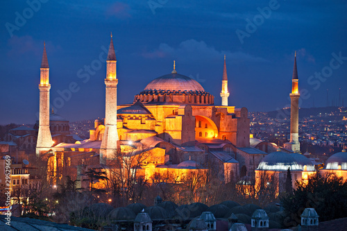 Canvas Prints Turkey Hagia Sophia mosque, Istanbul, Turkey.