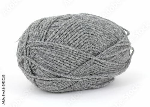 Fotografie, Obraz  Gray worsted knitting yarn
