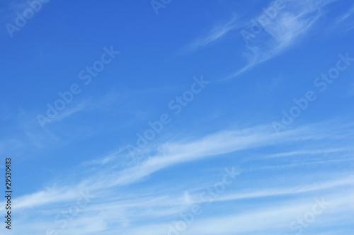Canvas Prints Heaven Cirrus Clouds