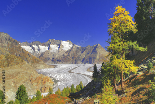 Aletschgletscher, Riederalp, Wallis, Schweiz Slika na platnu