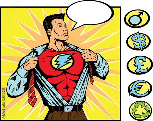 Poster Superheroes superhero