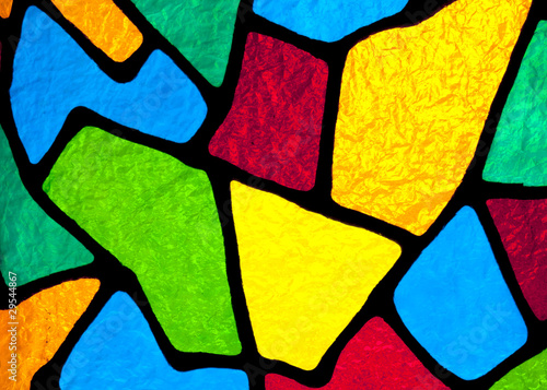 Fotografie, Obraz  Stained glass designs.