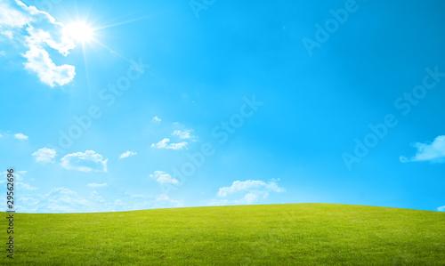 Foto op Aluminium Blauw landscape