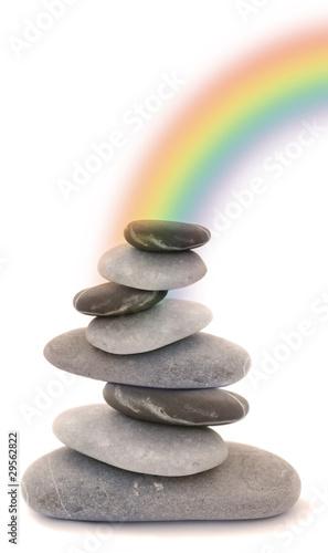 Foto op Canvas Zen zen regenbogen steine