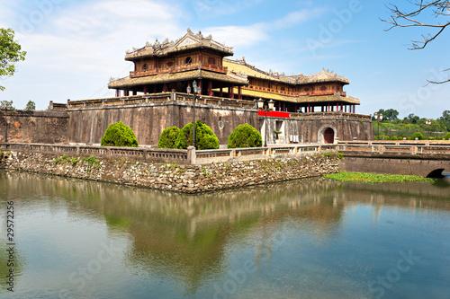 Fototapeta na wymiar Entrance of Citadel, Hue, Vietnam.