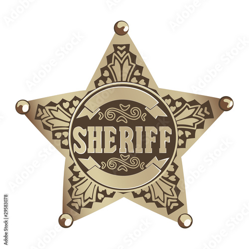 Sheriff star Canvas-taulu