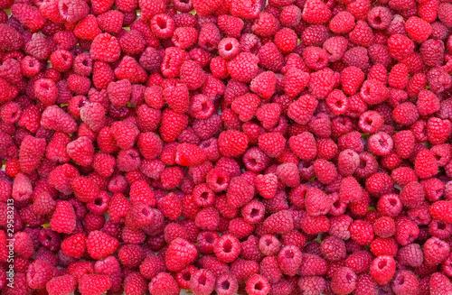 Cuadros en Lienzo Delicious first class fresh raspberries