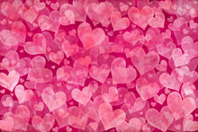 Valentine's Day Background With Pink Hearts