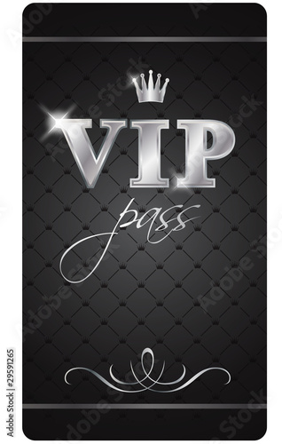Fotografía  VIP pass card