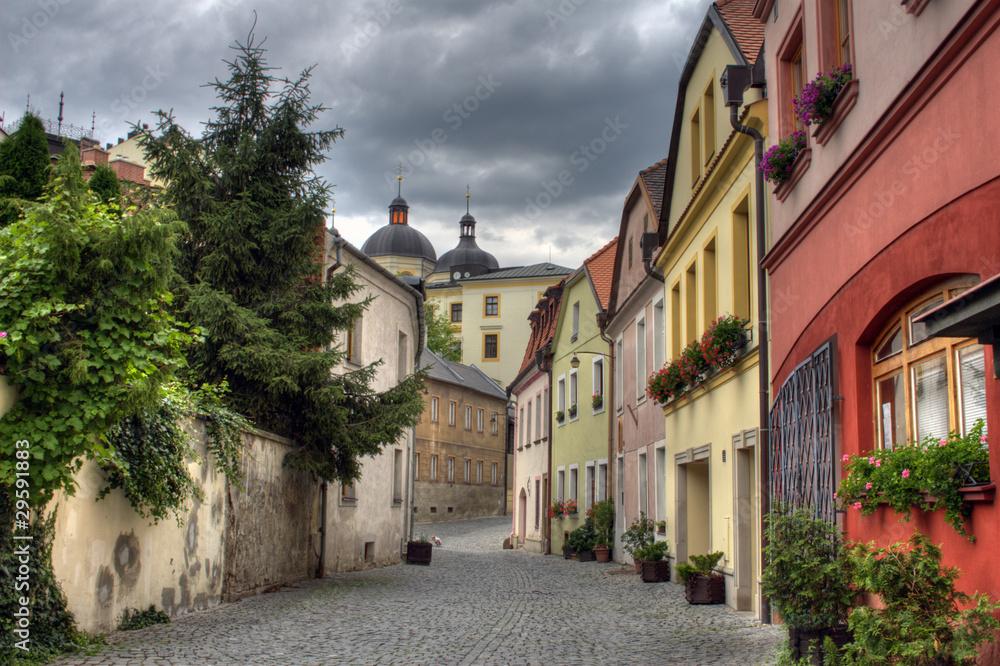 Obraz Piękna zabytkowa zabudowa czeskiego miasta Olomouc fototapeta, plakat