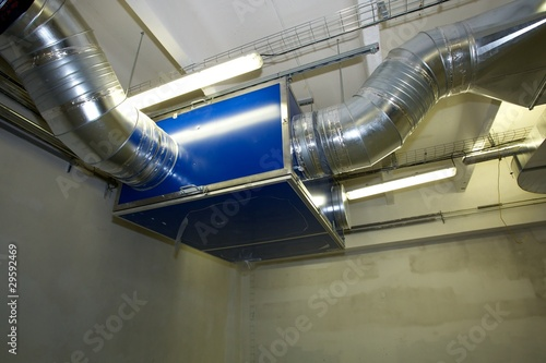 Photo New construction - Detail of industrial air conditioner