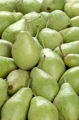 frame full of green pears
