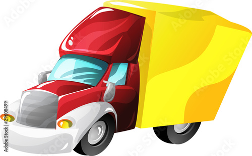 Recess Fitting Cars Cartoon lorry truck