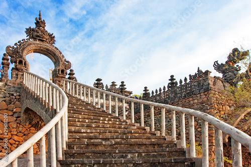 Foto op Plexiglas Indonesië Ladder to a temple. Bali. Indonesia