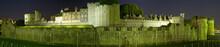 Лондон. Панорама ночного Тауэра.
