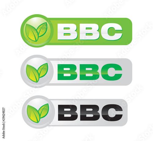 pictos BBC - batiment basse consommation Canvas Print