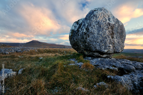 Erratic in Yorkshire Dales Canvas Print