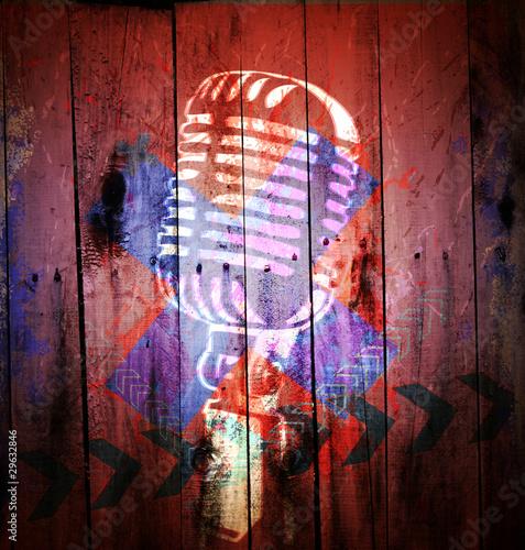 tlo-muzyczne-z-mikrofonem-cyfrowe-graffiti