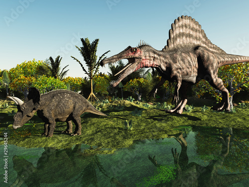 Jagd auf den Dinosaurier