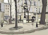 Fototapeta Paryż - Furstemberg square in paris