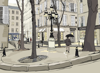 Fototapeta Furstemberg square in paris
