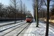 République Tcheque, Prague : tramway dans la neige