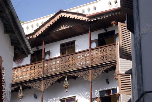 In de dag Zanzibar Old town scene, Stone Town, Zanzibar, Tanzania