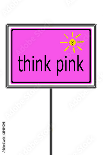 think pink Canvas Print