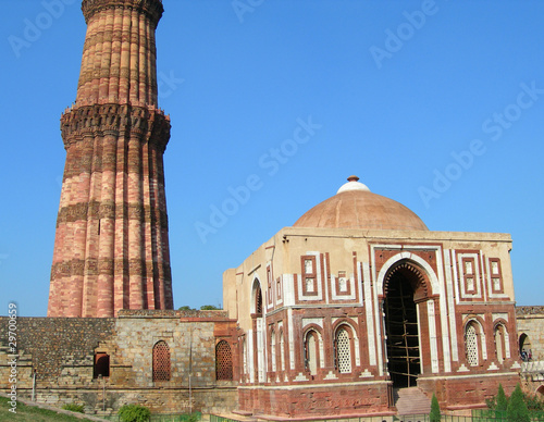 Fotobehang Delhi Qutb Minar monument in New Delhi, India