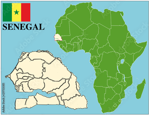 Map Of Africa Senegal.Senegal Emblem Map Africa World Business Success Background Buy