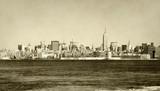 Panorama Nowego Jorku w stylu Retro