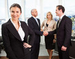 Businesswoman standing in front