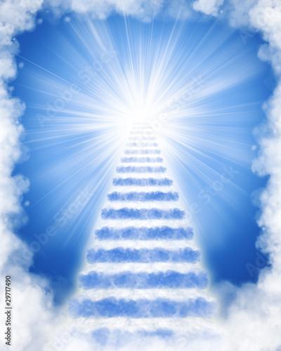 Fotografie, Tablou Stairs in sky to heaven