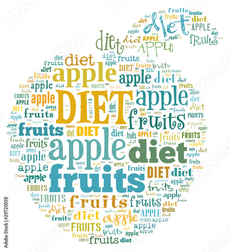Photo  Tagcloud: apple of words