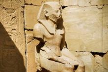 The Statue Of Ramses In Karnak Temple