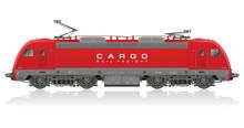 Detailed Photorealistic Model Of Electric Locomotive
