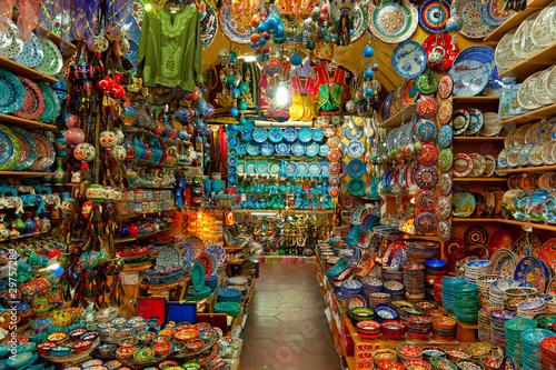Grand bazaar shops in Istanbul. Wallpaper Mural