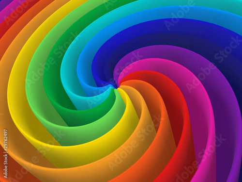 artistic rainbow colorful spiral modern structure background