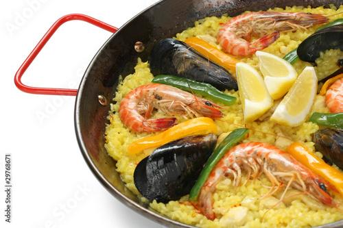paella , spanish rice dish
