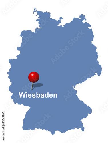 deutschlandkarte wiesbaden wiesbaden auf der Deutschlandkarte   Buy this stock vector and