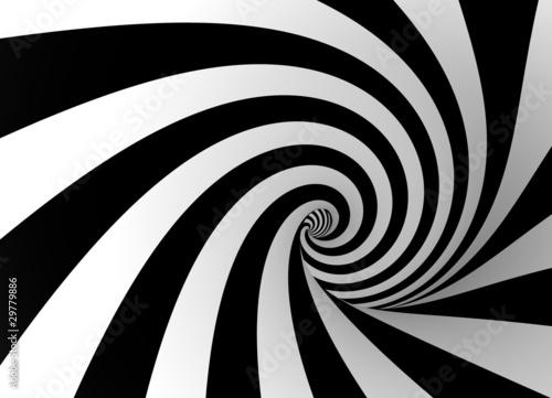 Foto op Aluminium Spiraal sw spirale
