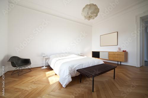 Fotografie, Obraz  interno, camera da letto