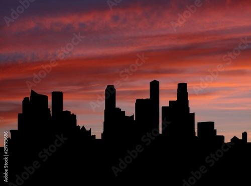 Fototapety, obrazy: Singapore Skyline at sunset with beautiful sky illustration