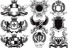 Coat Of Arms, Shields And Hera...