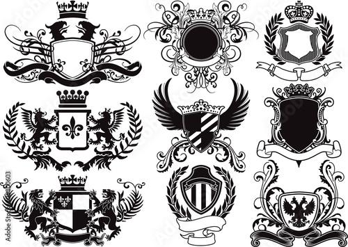 Fotografie, Obraz  coat of arms, shields and heraldic vector elements