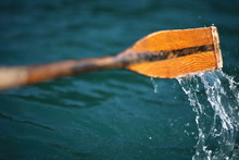 Oar In The Water (Croatia, Plitvice Lakes)